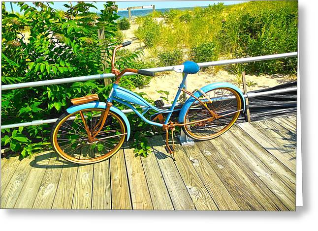 Greeting Card featuring the photograph Ocean Grove Bike by Joan Reese