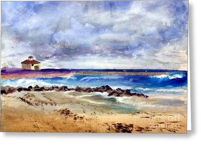 Ocean  Inlet Beach In Boynton Beach Greeting Card