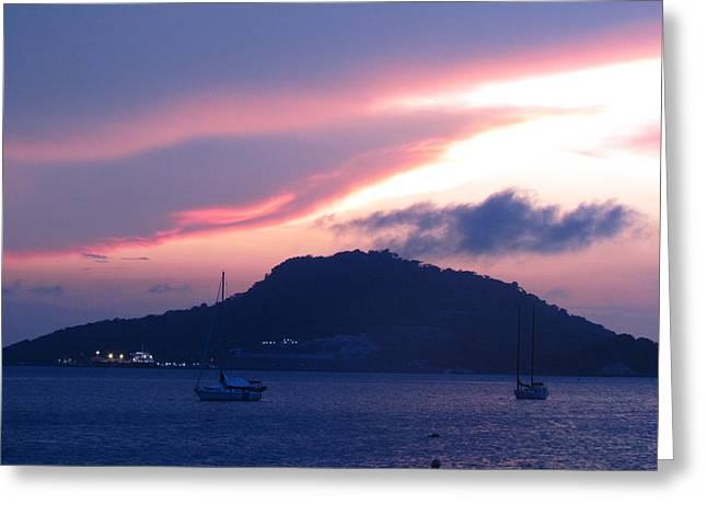 Ocean Island Sunrise Greeting Card