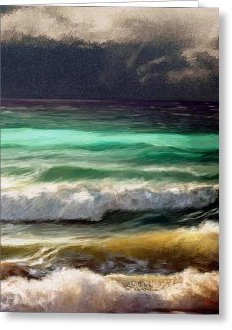 Ocean Greeting Card by James Shepherd