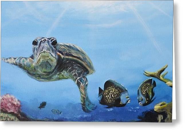 Ocean Life Greeting Card by Donna Tuten