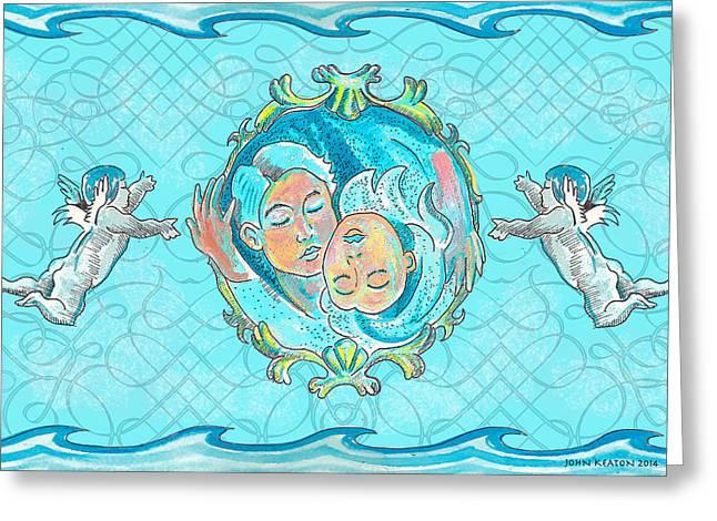 Ocean Of Love Greeting Card by John Keaton