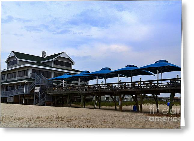 Ocean Pier And Restaurant Greeting Card