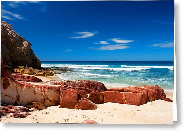 Ocean Rocks Greeting Card by Boon Mee