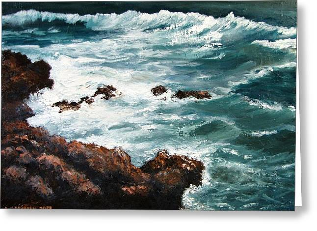Ocean Rocks  Greeting Card