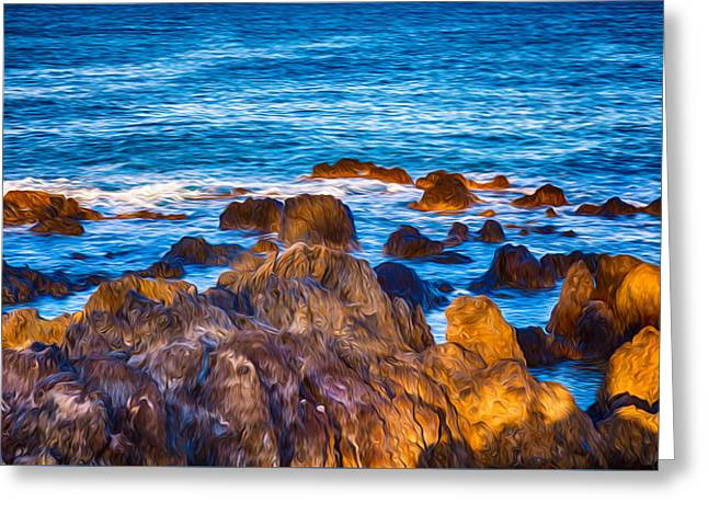 Ocean Rocks Greeting Card by Omaste Witkowski