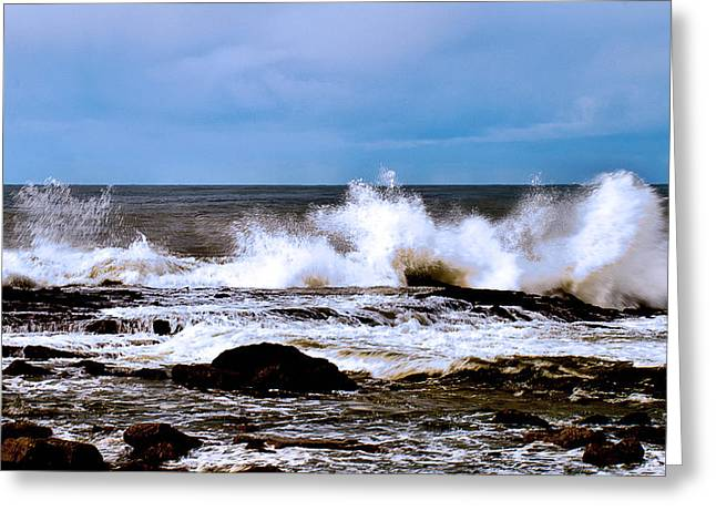 Greeting Card featuring the photograph Ocean Spray 2 by Joseph Hollingsworth