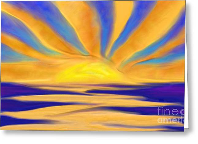 Ocean Sunrise Greeting Card by Anita Lewis