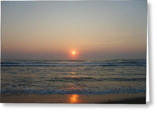 Ocean Sunrise Greeting Card by Deborah May
