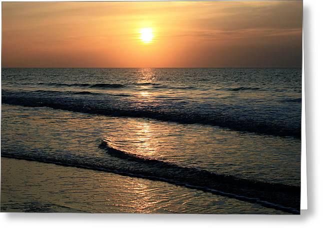 Ocean Sunrise Over Myrtle Beach Greeting Card