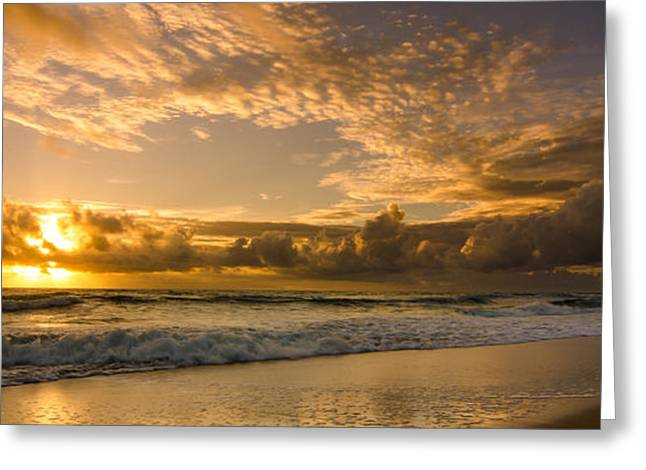 Ocean Sunrise Greeting Card by Tammy Ray
