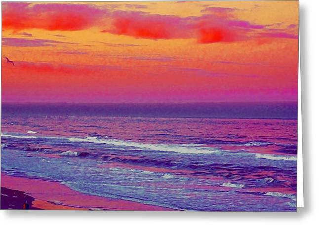Ocean Sunset 1 Greeting Card