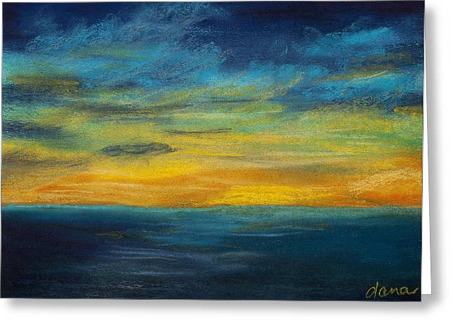 Ocean Sunset Greeting Card by Dana Strotheide