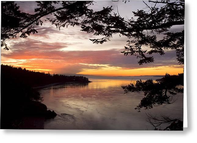 Ocean Sunset Deception Pass Greeting Card