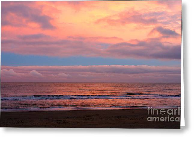 Greeting Card featuring the photograph Ocean Sunset by Jeremy Hayden