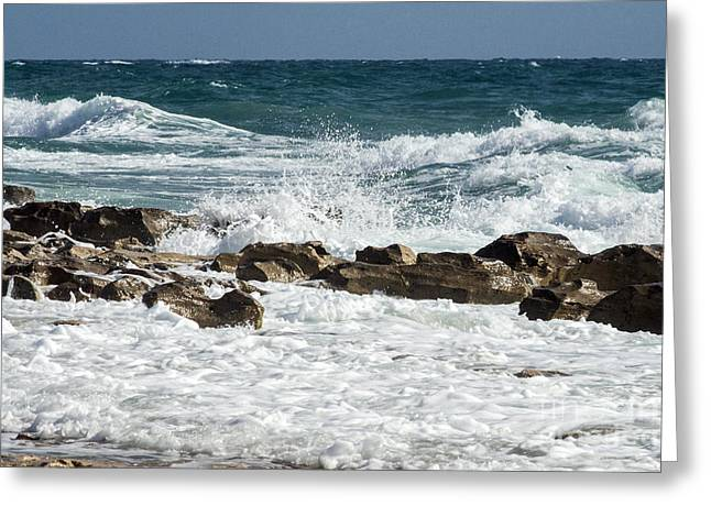 Ocean Surf Greeting Card by Darleen Stry