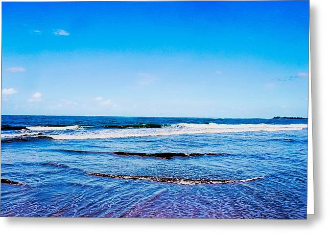Ocean Trail At Isla Verde Greeting Card by Sandra Pena de Ortiz