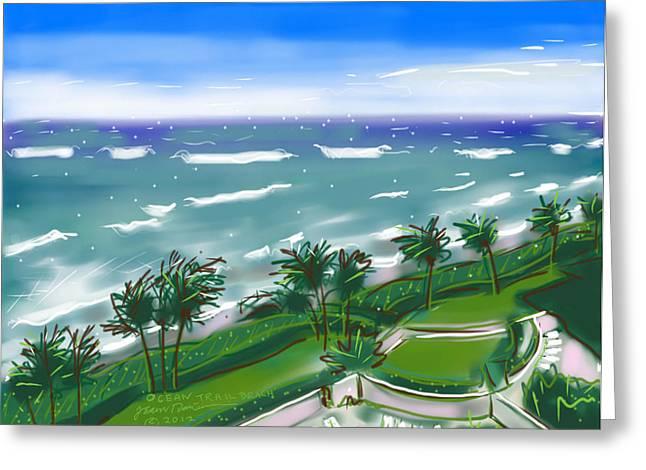 Ocean Trail Beach Greeting Card