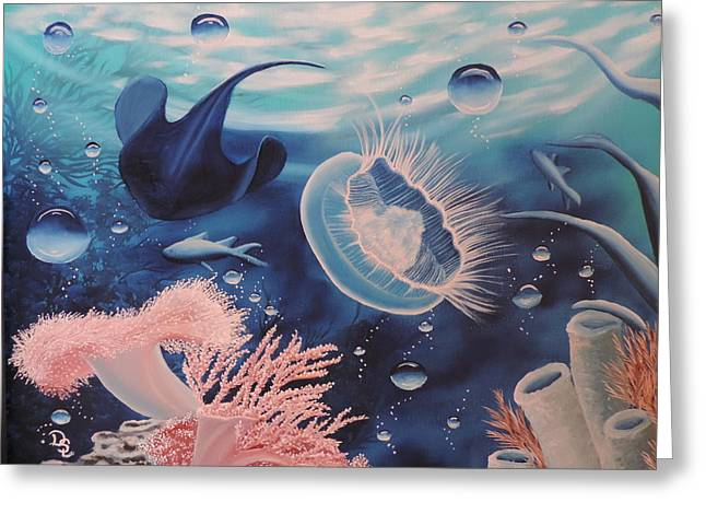 Greeting Card featuring the painting Ocean Treasures by Dianna Lewis