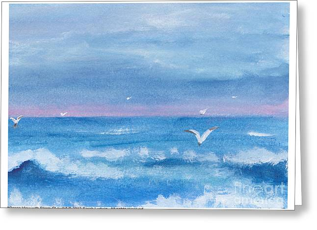 Ocean View #2 Greeting Card by Sarah Howland-Ludwig