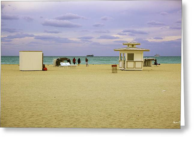 Ocean View 3 - Miami Beach - Florida Greeting Card by Madeline Ellis
