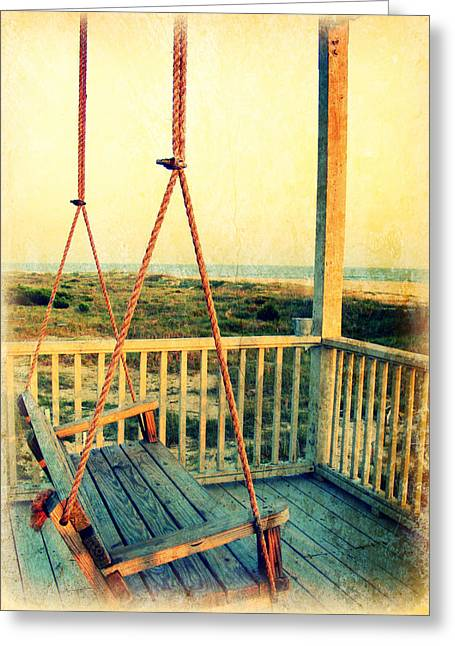 Ocean View At Oak Island 2 Greeting Card