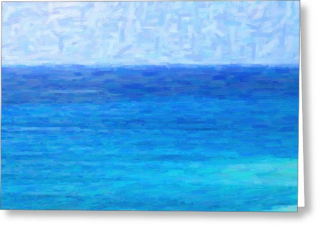 Ocean View Greeting Card by Kenny Francis