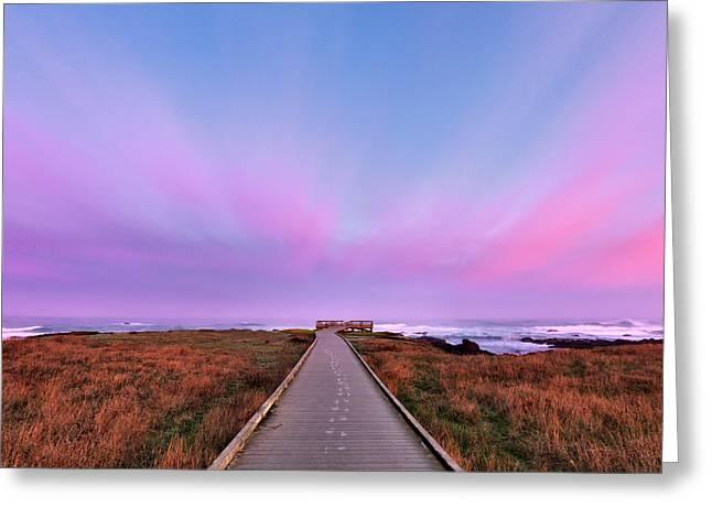 Ocean View Greeting Card by Leland D Howard