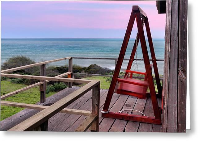 Ocean View Seat Greeting Card
