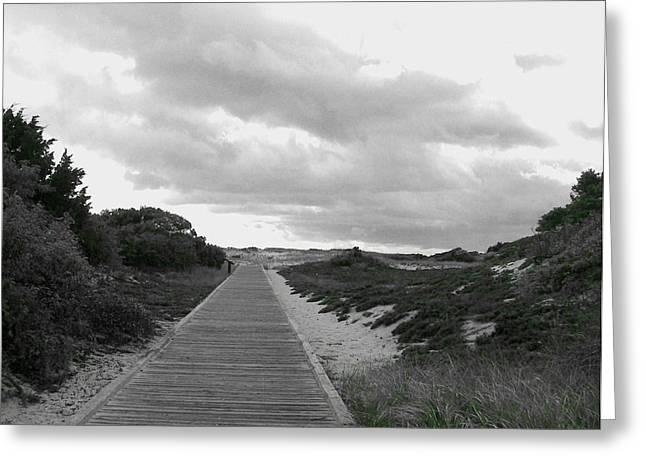 Greeting Card featuring the photograph Ocean Walk Island Beach State Park New Jersey by Pamela Hyde Wilson