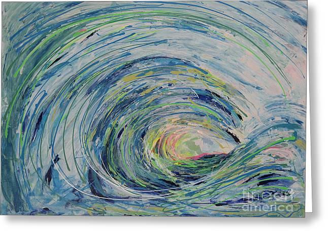 Ocean Wave Greeting Card by Robert Yaeger