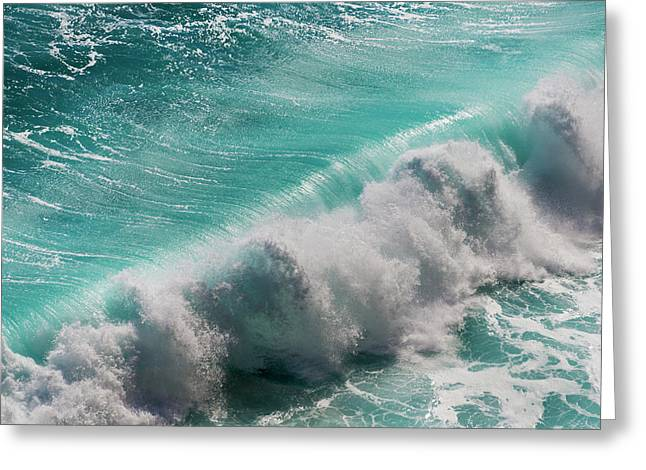 Ocean Waves, Bali Island, Indonesia Greeting Card