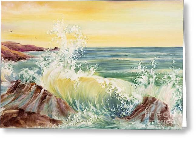 Ocean Waves II Greeting Card by Summer Celeste