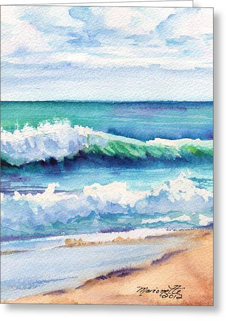 Ocean Waves Of Kauai I Greeting Card by Marionette Taboniar