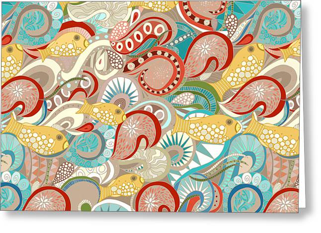Ocean Waves Greeting Card by Sharon Turner