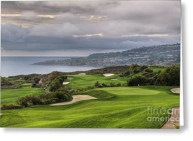 Oceanfront Golf Course Greeting Card