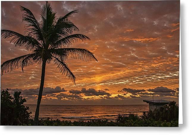 Oceanfront Park Sunrise 2 Greeting Card