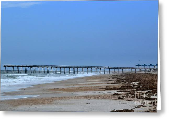 Oceanic Pier Greeting Card