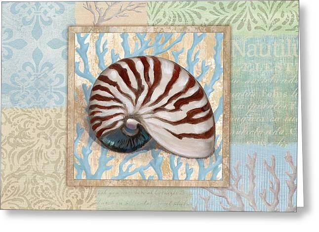 Oceanic Shell Collage IIi Greeting Card by Paul Brent