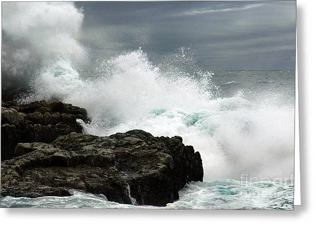Greeting Card featuring the photograph War Of Water by Glenda Wright