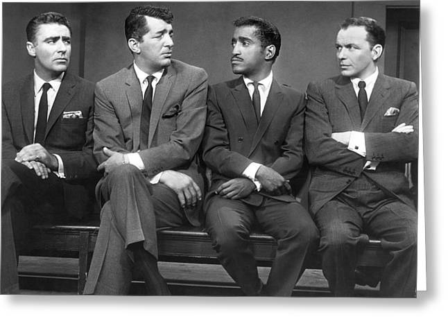Ocean's Eleven Rat Pack Greeting Card by Underwood Archives
