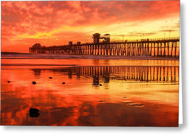 Oceanside Fire Greeting Card