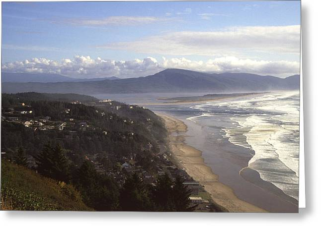 Oceanside Oregon Greeting Card by Keith Gondron