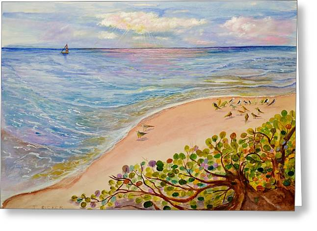 Seaside Grapes Greeting Card