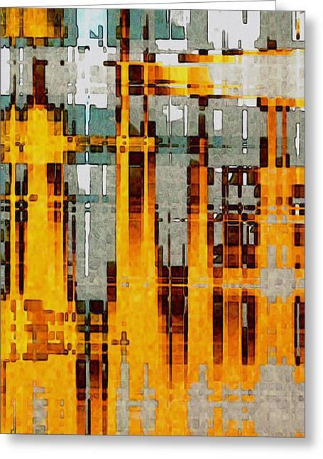 Ochre Urbanity Greeting Card by David Hansen