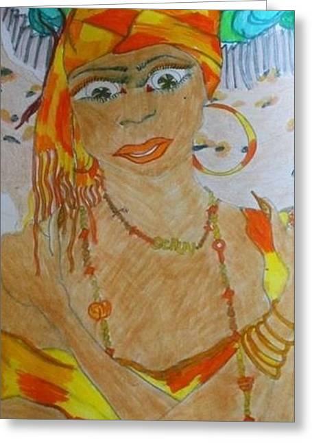 Ochun Greeting Card by Jeanne  Poller
