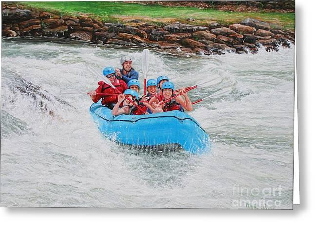 Ocoee River Rafting Greeting Card by Mike Ivey
