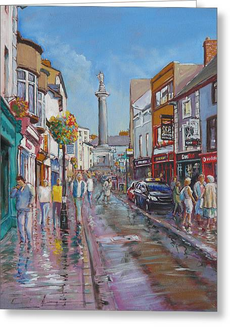O'connell Street Ennis Co Clare Greeting Card by Tomas OMaoldomhnaigh