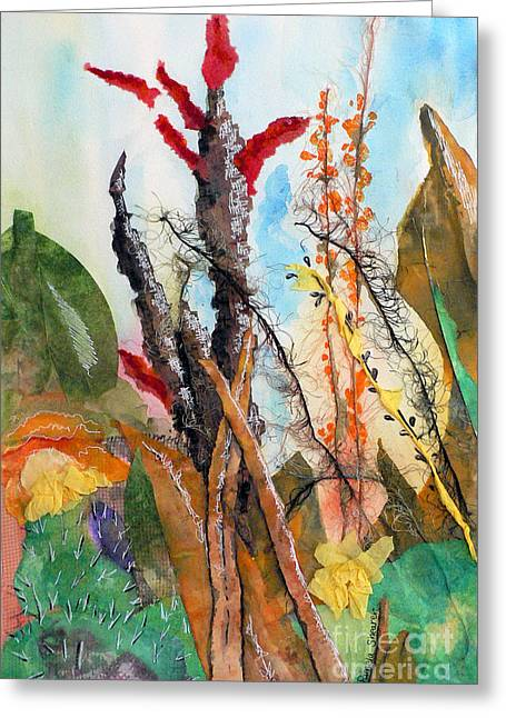 Ocotillo Collage Greeting Card