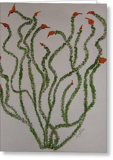 Ocotillo Dance Greeting Card by Marcia Weller-Wenbert